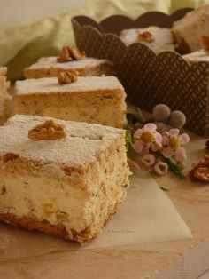Pastelitos de Nueces Budapest - Servant Tutorial and Ideas Drinks Alcohol Recipes, Non Alcoholic Drinks, Pan Dulce, Gourmet Desserts, Vegetable Drinks, Healthy Eating Tips, Healthy Food, No Bake Cake, Bakery