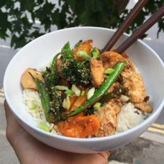 Try my honey & sesame Chicken stir fry with rice. A great post workout refuel meal  #Leanin15
