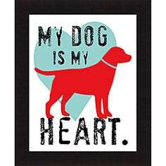 Ginger Oliphant 'My Dog Is My Heart' Framed Print