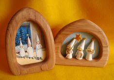 I love the Elsa Beskow plus Atelier Pippilotta kit Three Little Light Bearer's in these gorgeous frames, what a beautiful idea...