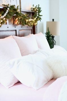 Cozy Farmhouse Christmas Bedroom
