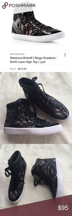 Rebecca Minkoff smith lace high top sneaker Runs true to size. Chic and comfy! Only tried on carpet. Brand new. 🚫no trades🙅🏻 Rebecca Minkoff Shoes Sneakers