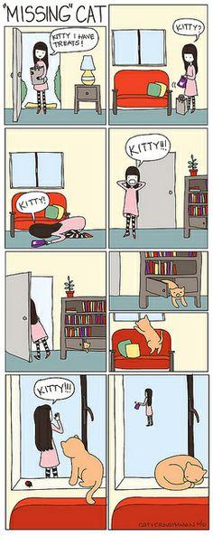 Missing Cat by aprintaday - Só ouvem quando querem, é verdade!