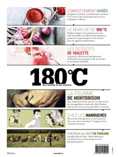 4ieme de couverture du numéro 3 de la revue 180°C Sorbets, C'est Bon, Editorial, Desserts, French, Board, Pastry Chef, Kitchens, Tailgate Desserts