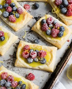 Lemon Berry Cheesecake Puff Pastries-So simple and yummy! I'm a huge fan of lemon curd. And fruit. And pastry. All of it.