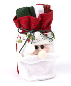 Another great find on #zulily! Jolly Santa Dish Towel Gift Set #zulilyfinds