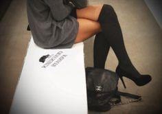 knee socks & chanel