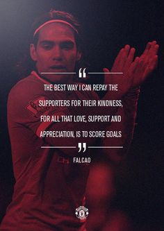"""""""United striker @Falcao starts today and he has just one thing in mind... #mufclive"""""""