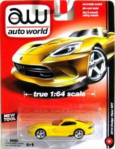 2014 Dodge Viper AUTO WORLD True 1:64 Scale High Quality Yellow Release 2A