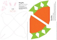 DIY Easter Boxes (free printable) Bunny or Carrot treat box Easter Crafts For Kids, Easter Gift, Easter Bunny, Easter Treats, Easter Projects, Easter Party, Easter Decor, Easter Eggs, Box Templates Printable Free