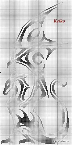 A great dragon cross stitch pattern. So majestic :)                                                                                                                                                                                 More