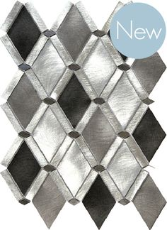 Discount Glass Tile Store - City - Diamond Silver And Carbon Aluminum Mosaic - On Sale $12.85 Per Square Foot, $12.85 (http://www.discountglasstilestore.com/city-diamond-silver-and-carbon-aluminum-mosaic-on-sale-12-85-per-square-foot/)