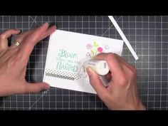 Selective Inking Your Stamps with @JulieEbersole using Savvy Stamps. #ellenhutsonllc #ellenhutsonllcblog #ellenhutsonllcyoutube