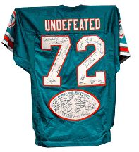Miami Dolphins Autographed 1972 Perfect Season Limited Edition Throwback Football Jersey