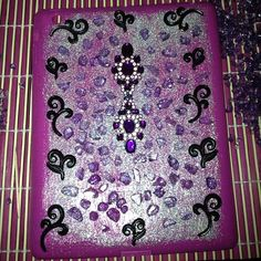 Pink and purple iPad case I've been working on. What do you think? #DIY #crafts #ipadcase #pink #purple - @lovelysinstinct- #webstagram
