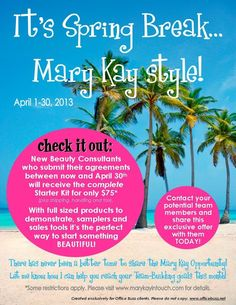 Mary Kay Voted #10 in Fortune Magazine for the top 100 companies to work for!! Now it's only $75 to start....that's a no brainer to me!! Contact me today for more info! www.marykay.com/clbarker