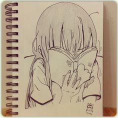 Just let me read. Pencil and ink #drawing~ #maestyle