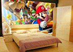 8D Large Mural Mario 3d Cartoon Wallpaper for Child Room  Price: 21.12 & FREE Shipping  #Jewelry #Watches #Watches #Earrings