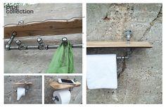 PIPE collection by Pür cachet purcachet.com Bathroom Hooks, Industrial, Bathroom Modern, Modern Contemporary, Industrial Music
