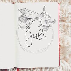 I love the start of a new month ♥️ By Tag your photos with for a chance to be featured ・・・ Hello July! And yes, my theme for the month is fish! And probably some other sea-creatures Bullet Journal Title Page, Monthly Bullet Journal Layout, Bullet Journal Month, Bullet Journal Inspiration, Journal Covers, Book Journal, Hello July, Journal Organization, My Themes