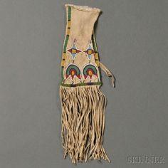 Santee Sioux Beaded Hide Pipe Bag   Sale Number 2685B, Lot Number 165   Skinner Auctioneers