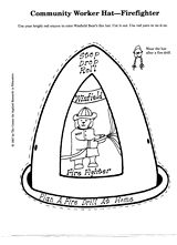 firefighter hat template preschool - free printable thank you firefighters coloring sheet