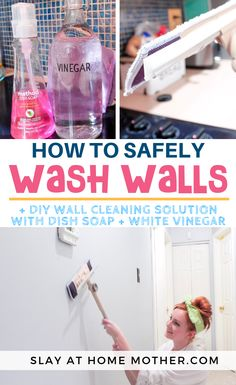 Epic and easy cleaning hacks, tips, and tricks you will find handy. Cleaning Painted Walls, Cleaning Walls, Deep Cleaning Tips, Toilet Cleaning, House Cleaning Tips, Diy Cleaning Products, Cleaning Solutions, Spring Cleaning, Cleaning Baseboards
