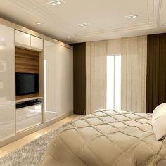 Walk In Closet Design, Wardrobe Design Bedroom, Bedroom Bed Design, Tv In Bedroom, Master Bedroom, Bedroom Decor, Trendy Bedroom, Parents Room, Beauty Room