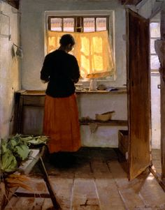 Anna Ancher - The Girl in the Kitchen - 1886