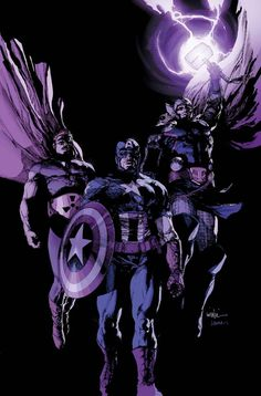 Avengers 22 Cover: Hyperion, Captain America, Thor by Leinil Francis Yu Marvel Comics Poster - 61 x 91 cm Marvel Comics, Marvel E Dc, Marvel Heroes, Marvel Avengers, Avengers 2012, Young Avengers, Marvel Comic Character, Marvel Characters, Star Trek