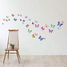 Decowall,30 Vibrant Butterflies DW-1302, Wall stickers/wall decals ,Wall paper home Art Deco Mural Point wall Sticker Decowall http://www.amazon.co.uk/dp/B003BNSYYC/ref=cm_sw_r_pi_dp_O9vrub13FPBVZ