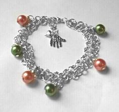Autumn Chainmail Pumpkin Inspired Bracelet by MsRetroDesigns, £9.99