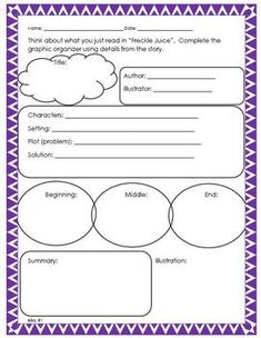 Worksheet Freckle Juice Worksheets freckle juice book clubs and freckles on pinterest