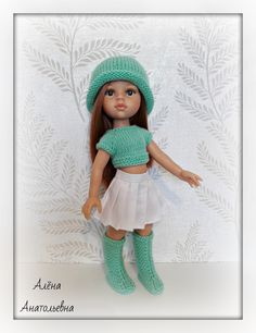 Knitted Doll Patterns, Doll Patterns Free, Knitted Dolls, Free Pattern, Crochet Patterns, Crochet Baby, Knit Crochet, Wellie Wishers, Snowflake Pattern
