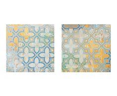 Set de 2 lienzos de madera DM Geométrico - 40x40 cm