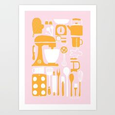 Kitchen Art Print by Amy Walters.