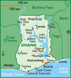 Ghana Map / Geography of Ghana / Map of Ghana Ghana Travel, Africa Travel, Ghana Tourism, Ghana Facts, Ashanti People, Africa Continent, City Of Adelaide, African Girl, African Style
