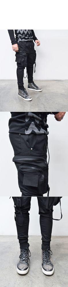 Big Cargo Strap Kangaroo Baggy Jogger-Sweatpants 263 - GUYLOOK