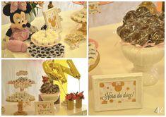Festa DIY: Minnie rosa e dourado