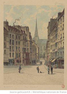 Place Maubert  Non identifié, 1880