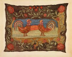 Dorothy Lacey, Embroidered Rug, 1937. Watercolor and graphite on paper. Pennsylvania German Folk Art. Read More National Gallery of Art, Washington