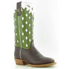 Cowboy Collection Kids' Chocolate Horsebutt with Wild West TopFoot: Chocolate HorsebuttTop: 10 Inch Green Wild WestToe: WS Wide Square ToeHeel: 1 Inch Cowboy HeelInsole: Regular InsoleOutsole: LeatherOlathe?s Cowboy Collection style