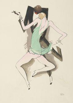 """""""Le tumulte noir"""" (1930) drawing by Paul Colin - Paris Editions d'art Succès"""