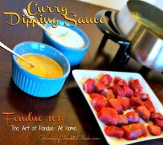 Curry Fondue Dipping Sauce Recipe 1  http://www.grinningcheektocheek.com/fondue-curry-dipping-sauce