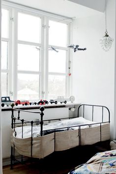 nice bed for a baby and I love the lamp.
