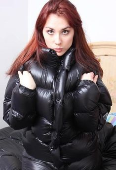 so sexy and cute in big down coat Cool Jackets, Jackets For Women, Winter Jackets, Winter Coats, Nylons, Down Suit, Down Puffer Coat, Puffy Jacket, Rain Wear
