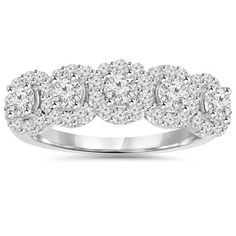 SummerRose Vintage 14k White Gold 1/ 4ct TDW Diamond Ring ( H-I, SI1-SI2) - Free Shipping Today - Overstock.com - 17218487