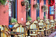 The Great Outdoors: Our Team Picks their Favorite Al Fresco Dining Spots - The Window Z Cafe, Cafe Shop, Cafe Bar, Outdoor Cafe, Outdoor Dining, Outdoor Decor, Outdoor Areas, Outdoor Restaurant Design, Cafe Restaurant