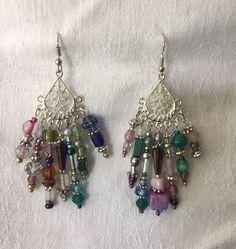 Green Chandelier Earrings 3\