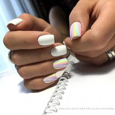 Decorated nail polish fashionable colors of enamel Nails Polish, Matte Nails, Cute Acrylic Nails, Acrylic Nail Designs, Stylish Nails, Trendy Nails, Nail Swag, Get Nails, Hair And Nails